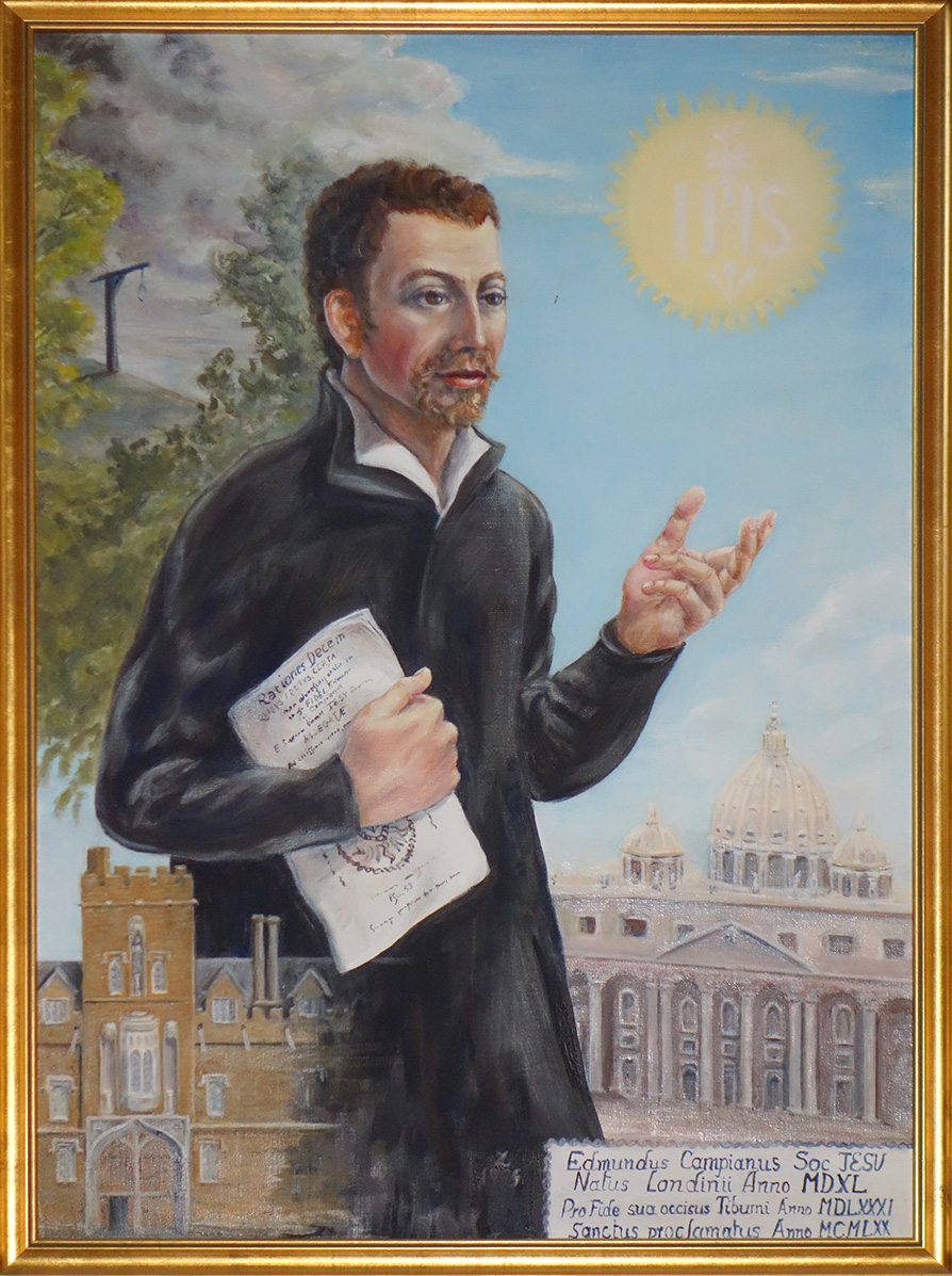 A painting of St. Edmund Campion